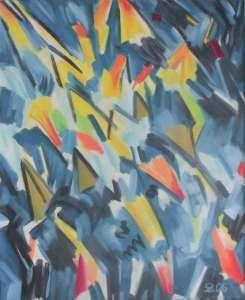 Vögel III, Öl auf Leinwand, 85 x 70 cm, 2006