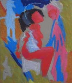 Die Schwangere, 44 x 38 cm