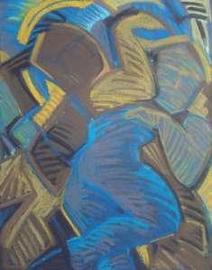 Kämpfer, 73 x 56 cm