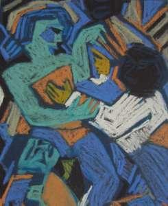 Tänzer I, 60 x 50 cm, verkauft